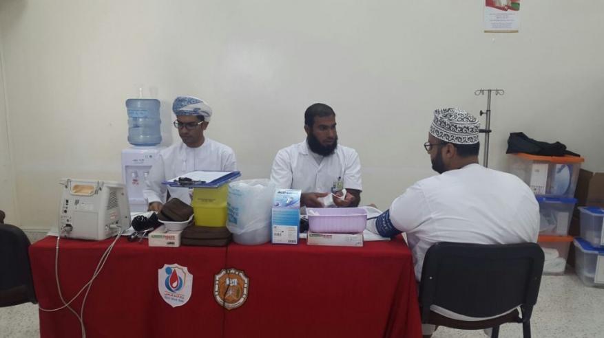 حملة للتبرع بالدم في كلية كالدونيان الهندسية