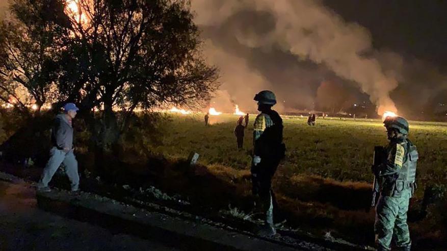 بالفيديو .. 74  قتيلا وجريحا جراء احتراق خط أنابيب في المكسيك