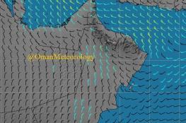 """""""الأرصاد"""": غبار وانخفاض في درجات الحرارة بطقس السلطنة"""