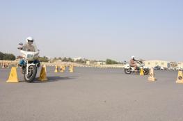 """""""السلامة المرورية"""" ينفذ دورة الدراجات النارية للضباط المرشحين"""