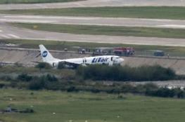 بالصور..إنحراف طائرة ركاب روسية عن المدرج  وإصابة 18