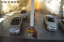 فيديو مروع.. انفجار خزان محطة وقود بالسعودية