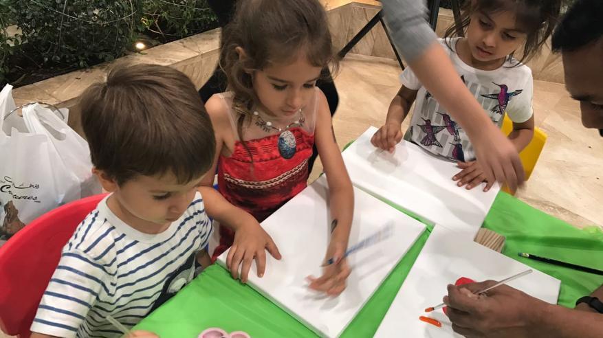 """""""سابكو"""" ينظم ورشة فنية للأطفال احتفالا بعيد الأم"""
