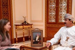 وزير المكتب السلطاني يستقبل وكيلة وزارة الخزانة الأمريكية