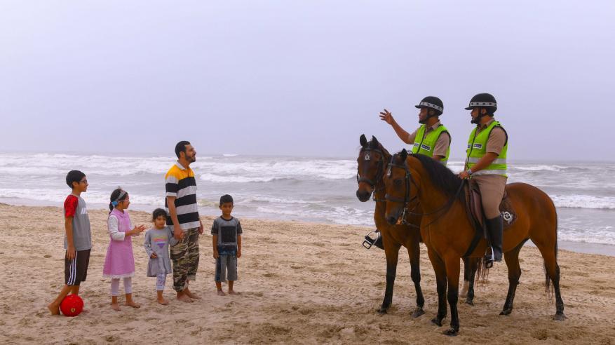 جهود خيالة الشرطة في مهرجان خريف صلالة السياحي لهذا العام2