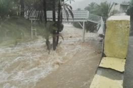 تأثر الطرقات في صور بسبب الأمطار