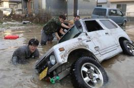 """بالفيديو.. إعصار اليابان """"المدمر"""" يقتل 36 شخصا"""
