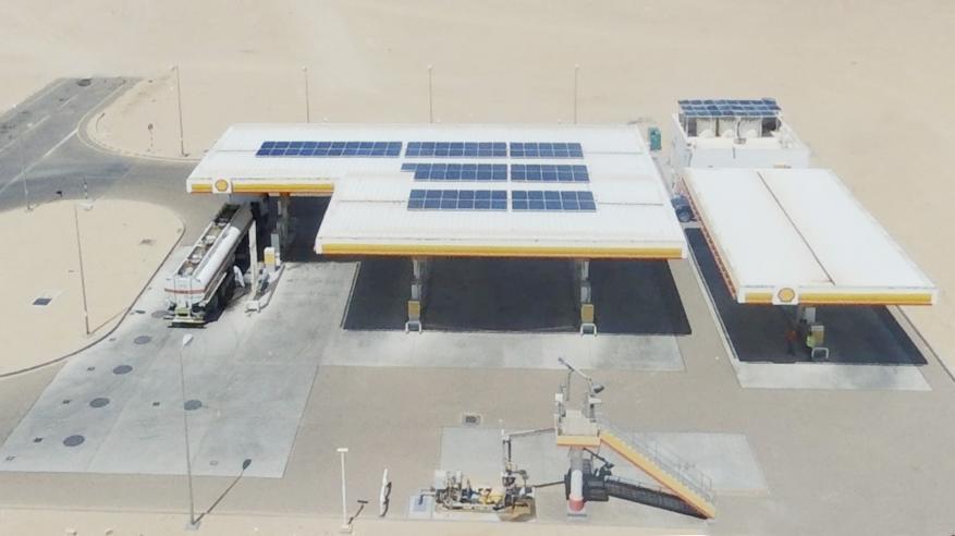 تدشين أول محطة خدمة بالطاقة الشمسية في السلطنة