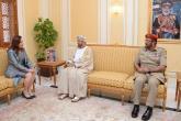 بدر بن سعود يستقبل رئيسة الجمعية العامة للأمم المتحدة