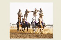 8 أشواط مثيرة لسباقات الخيول على مضمار الرحبة