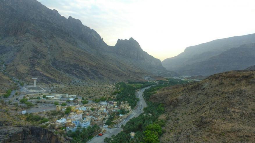 منظر لقرى وادي بني خروص