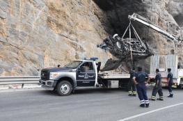 بالصور.. وفاة 4 أشخاص في حادث تصادم بالجبل الأخضر