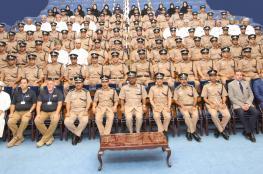 معهد الضباط يختتم 6 دورات تدريبية