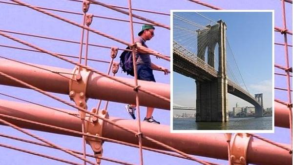 اعتقال سعودي تسلق أشهر جسر في أمريكا