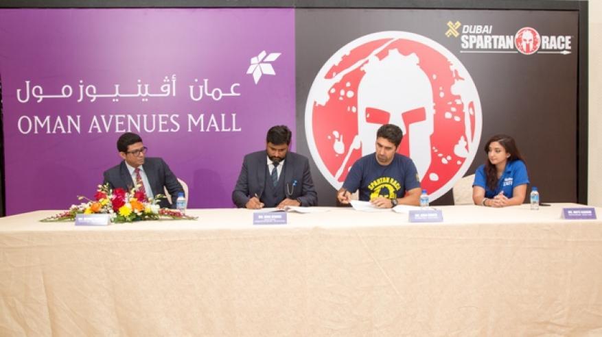 """شراكة بين """"عمان أفينيوز مول"""" و""""سبارتان آرابيا"""" في سباقات العوائق"""