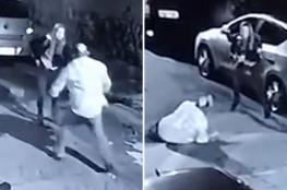 """بالفيديو.. لص يهاجم شرطية في الشارع والنتيجة """"مأساوية"""""""