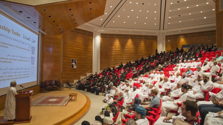 تنظيم اليوم التعريفي لطلبة الدراسات العليا بجامعة السلطان قابوس