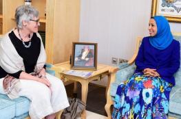 """الشيبانية تستعرض مع رئيسة الجمعية الدولية لتقييم التحصيل التربوي نتائج """"دراسة تيمس"""""""