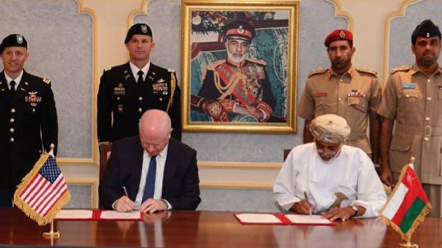 اتفاقية بين السلطنة وأمريكا لتعزيز التعاون العسكري