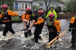 بالفيديو.. إعصار فلورنسا يقتل ويحاصر العشرات في أمريكا