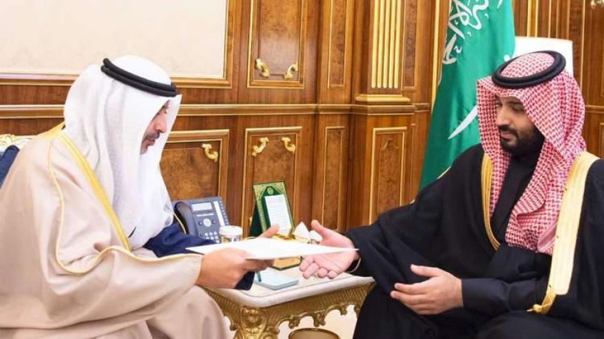 رسالة من الصباح إلى محمد بن سلمان عقب زيارة تميم للكويت