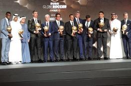 """شاهد .. رونالدو يفوز بجائزة """"جلوب سوكر"""" لأفضل لاعب وهدف في العالم"""