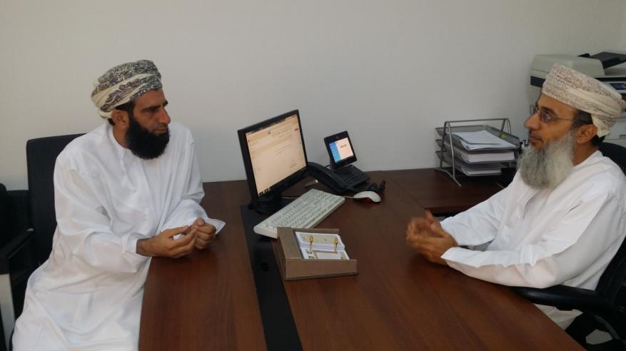 احمد الجرداني مع الشيخ محمد الخروصي