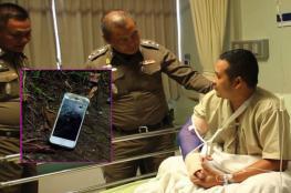 """هاتف """"آيفون"""" يتصدى للرصاص وينقذ شرطيا من الموت"""
