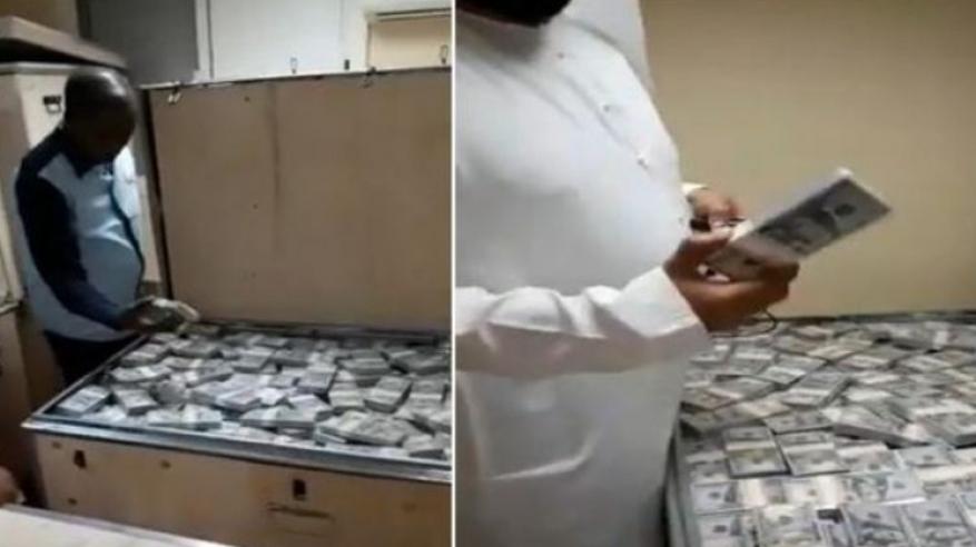 بالفيديو .. فك لغز الصناديق المملوءة بالدولارات في دبي