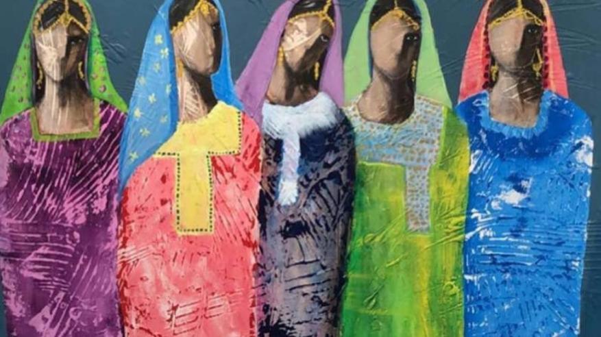 من أعمال الفنانة مريم الوهيبي