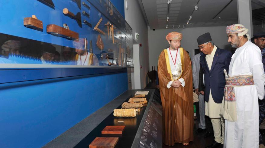رئيس وزراء نيبال يزور عددا من المعالم السياحية بمسقط