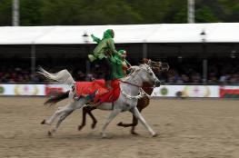 """الخيالة السلطانية تختتم مشاركتها في """"عرض ويندسور"""" الملكي للخيول في بريطانيا"""