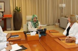 وزيرة التعليم العالي تلتقي رئيسة جامعة كارديف ميتروبولتن