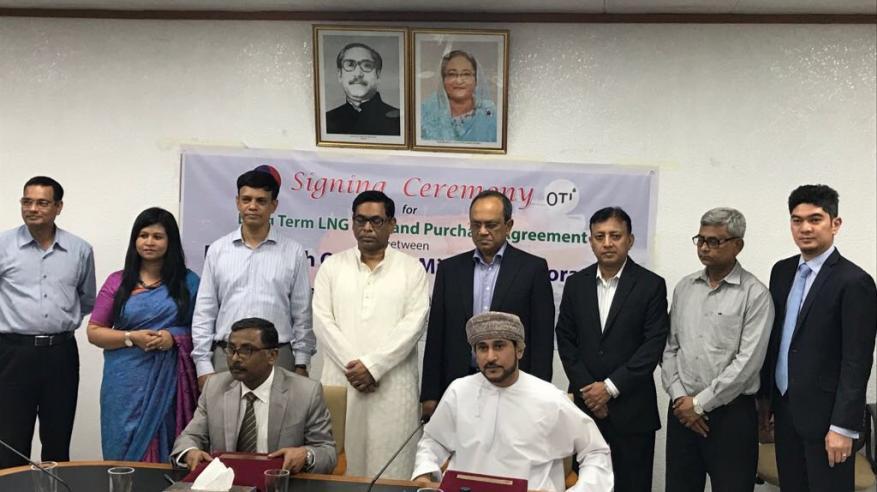 اتفاقية لبيع وشراء الغاز المسال مع شركة مملوكة لحكومة بنجلاديش