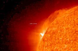 بالفيديو .. شاهد لحظة حدوث انفجارا مذهلا على سطح الشمس