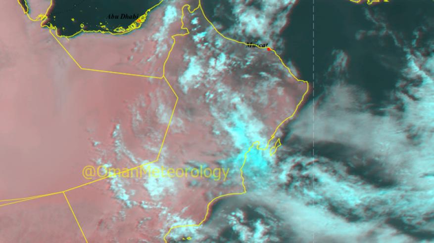فرص لهطول أمطار على بعض المناطق بالسلطنة