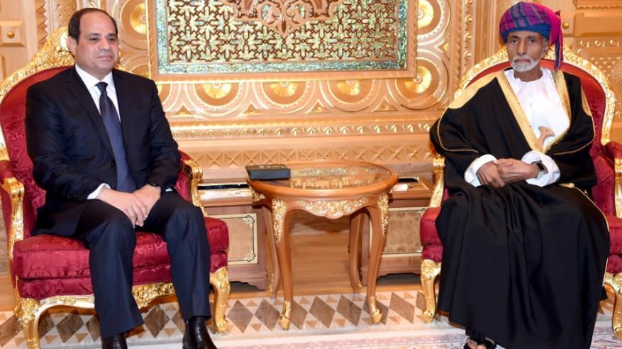 جلالة السلطان يتلقى برقية شكر جوابية من السيسي
