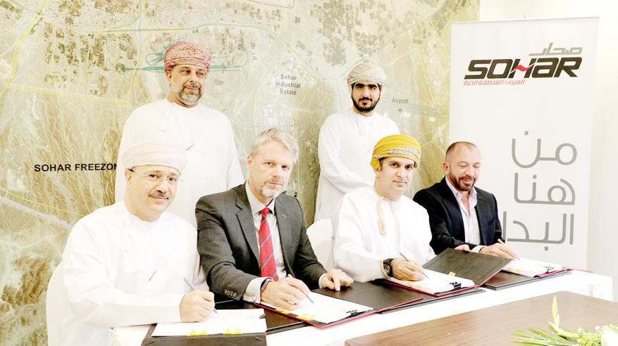 """ميناء صحار يوقع اتفاقية حق انتفاع بالأرض لمشروع """"صوامع الغلال"""" بسعة تخزينية 156 ألف طن"""