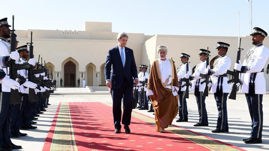 وزير الخارجية الأمريكي يختتم زيارته للسلطنة