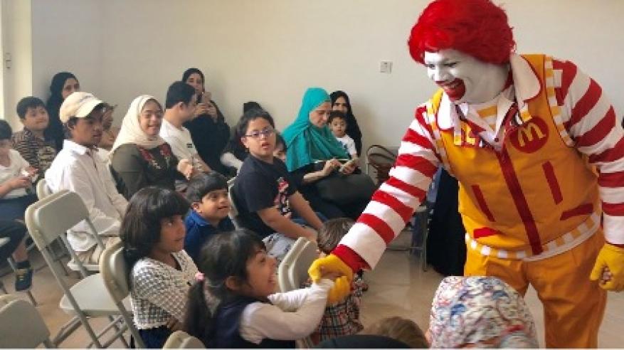 ألعاب رونالد ماكدونالد تبهج ذوي الاحتياجات الخاصة