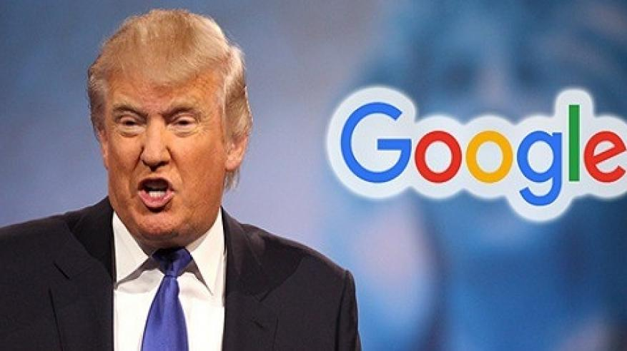"""الرئيس الأمريكي يتهم """"جوجل"""" بمساعدة الجيش الصيني"""