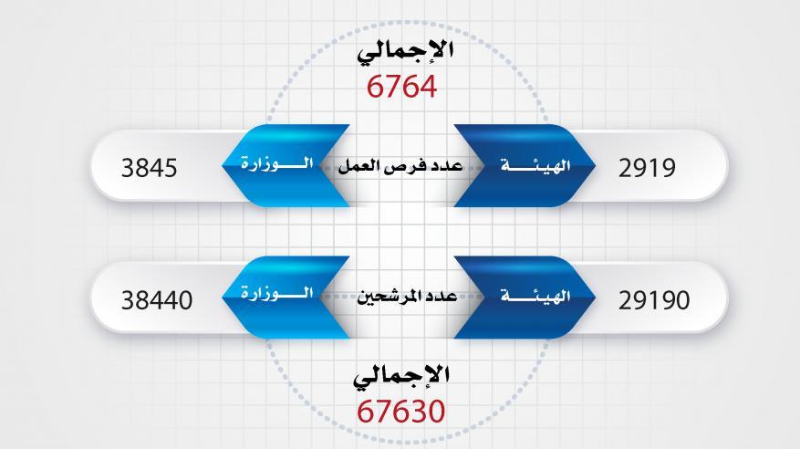 عدد المرشحين وفرص العمل-01