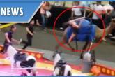 بالفيديو .. جمل غاضب يقتحم حلبة سيرك ويصيب 7 أشخاص