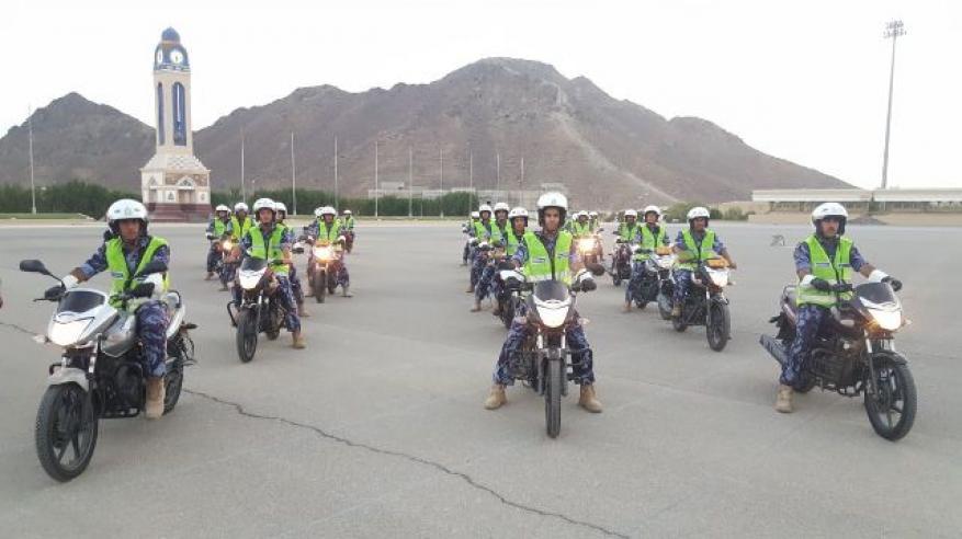 """""""السلامة المرورية"""" يواصل تنفيذ برنامج سياقة الدراجات النارية"""