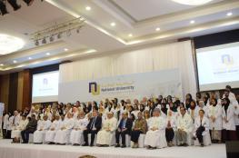الاحتفال بتسليم المعطف الأبيض بكلية الطب والعلوم الصحية