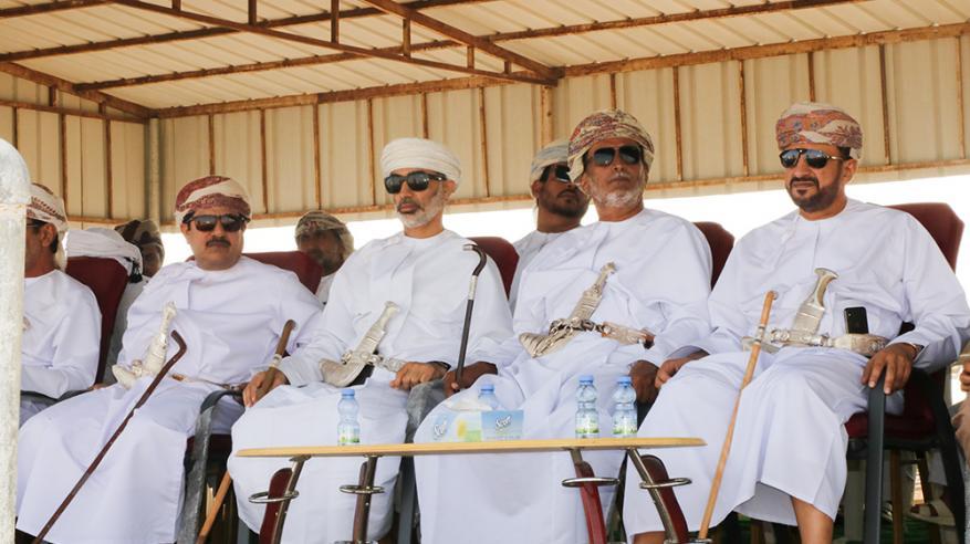 سعادة الشيخ راعي الحفل والحضور