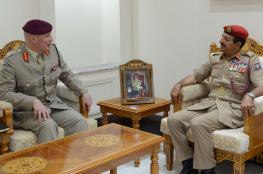 رئيس أركان قوات السلطان المسلحة يستقبل كبير مستشاري الدفاع البريطاني لشؤون الشرق الأوسط