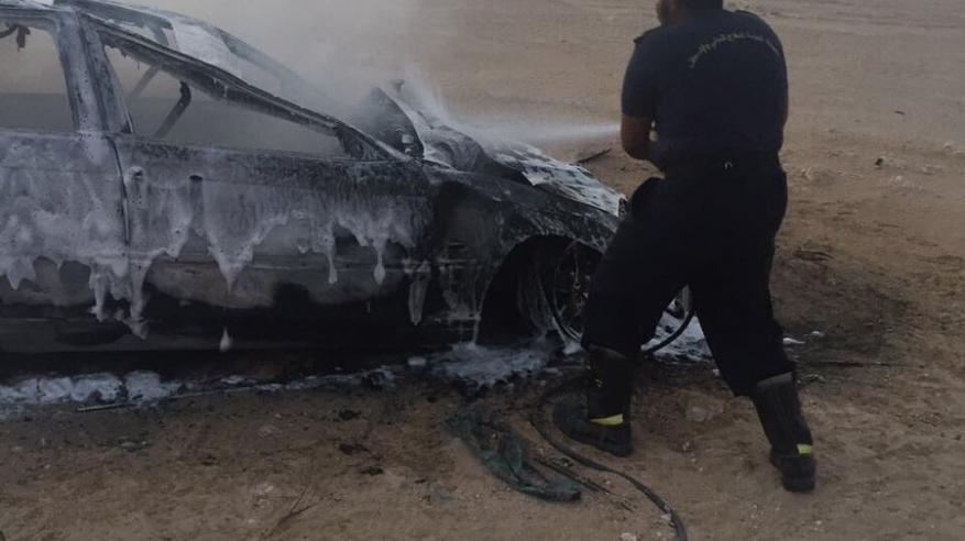 تدهور واحتراق مركبة بولاية هيما ونقل 3 مصابين إلى المستشفى