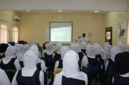 محاضرة عن الصحافة وفنونها بمدرسة الموارد للتعليم الأساسي