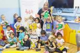 """""""مكتبة السندباد"""" تشارك أطفال """"حضانة الأفق"""" متعة القراءة"""